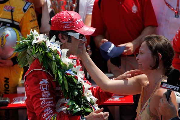 Image result for ashley judd dario franchitti wins indy 500