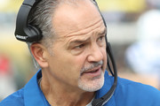 Head coach Chuck Pagano of the Indianapolis Colts waits near the bench in the first half of their game against the Jacksonville Jaguars at EverBank Field on December 3, 2017 in Jacksonville, Florida.
