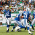 Quarterback Andrew Luck #12 of the Indianapolis Colts throws a touchdown pass against the New York Jets in the first quarter at MetLife Stadium on October 14, 2018 in East Rutherford, New Jersey. - 4 of 14