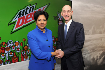 Indra Nooyi PepsiCo NBA Press Event with Athletes/Celebrities