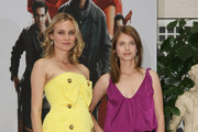 "Actress Diane Kruger (L) and actress Melanie Laurent attend the photocall for ""Inglourious Basterds"" at the Adlon Hotel on July 28, 2009 in Berlin, Germany."