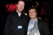 Michael Hayes and Jack Black attend Initiative Rocks benefit concert presented by Initiative and Myspace for Friends of the Family at El Rey Theatre on March 29, 2011 in Los Angeles, California.