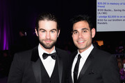 Actor Chace Crawford (L) and manager Eric Podwall attend the 23rd Annual Elton John AIDS Foundation Academy Awards Viewing Party on February 22, 2015 in Los Angeles, California.