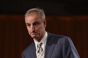 Sports analyst Trey Wingo speaks onstage during the Friars Club Roast of Terry Bradshaw during the ESPN Super Bowl Roast at the Arizona Biltmore on January 29, 2015 in Phoenix, Arizona.
