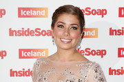 Nikki Sanderson with her Best Actress award as she attends the Inside Soap Awards at Dstrkt on October 1, 2014 in London, England.