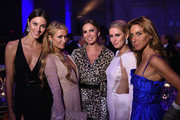 Nadejda Savcova, Paris Hilton, Inga Rubenstein, Nicky Hilton and Dori Cooperman attend Angel Ball 2014 hosted by Gabrielle's Angel Foundation at Cipriani Wall Street on October 20, 2014 in New York City.