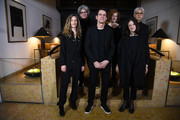 (L-R) Jury Members Cecile de France,Chema Prado,Jury President Tom Tykwer,Jury Members Stephanie Zacharek, Adele Romanski and Ryuichi Sakamoto pose at the International Jury photo call during the 68th Berlinale International Film Festival Berlin at Hotel Mandala on February 14, 2018 in Berlin, Germany.