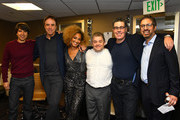 (L-R) Demetri Martin, Kevin Nealon, Amanda Seales, Patton Oswalt, Adam Carolla and Ray Romano attend the International Myeloma Foundation 13th Annual Comedy Celebration at The Beverly Hilton Hotel on October 17, 2019 in Beverly Hills, California.