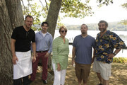 Chef Nils Noren, chef David Arnold, Dorothy Cann Hamilton, CEO and Founder of The International Culinary Center, chef Zach Allen, and chef Cesare Casella attend International Pig Roast Hosted by Dorothy Cann Hamilton on September 25, 2010 in New York City.