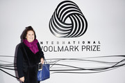 Suzy Menkes attends the International Woolmark Prize 2017/2018 on January 9, 2018 in Florence, Italy.