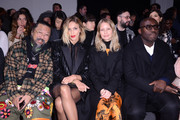 (L-R) Takashi Murakami, Anja Rubik, Holli Rogers and Edward Enninful attend the International Woolmark Prize 2020 during London Fashion Week February 2020 at Ambika P on February 17, 2020 in London, England.