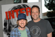 "Actors Owen Wilson (L) and Vince Vaughn are seen at ""The Internship"" Googler Premiere on May 30, 2013 in San Francisco, California."