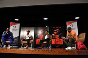 """(L-R) Deon Taylor, Meagan Good, Michael Ealy, and J. Nicks onstage during  """"The Intruder"""" Clark Atlanta University Spring Fest 2019 at Clark Atlanta University Student Center on April 23, 2019 in Atlanta, Georgia."""