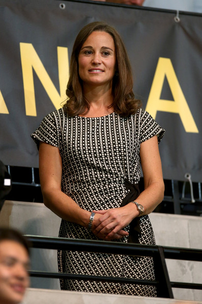 Pippa Middleton looks on during the Wheelchair Rugby final between the USA and Great Britain on Day Two of the Invictus Games at the Olympic Park on September 12, 2014 in London, England.