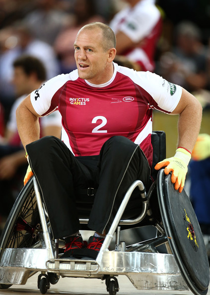 Mike Tindall takes part in the Jaguar Land Rover Exhibition Wheelchair Rugby match during Day Two of the Invictus Games at the Olympic Park on September 12, 2014 in London, England.