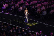 Canadian singer-songwriter Sarah McLachlan performs during the opening ceremony of the 2017 Invictus Games at Air Canada Centre on September 23, 2017 in Toronto, Canada.The Invictus Games is the only international sporting event for wounded, injured and sick servicemen and Women (WIS). This year's games will bring together 550 competitors from 17 nations.