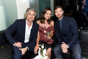 Dave Annable, Odette Annable, and Ian Bohen attend Ira and Bill DeWitt's Saint candle launch benefiting St. Jude Children's Research Hospital at Mr. Chow on June 12, 2019 in Beverly Hills, California.