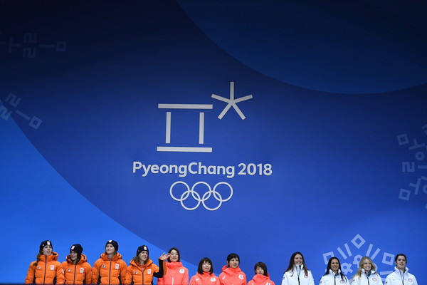 Medal Ceremony - Winter Olympics Day 13
