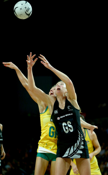 New Zealand v Australia [diamonds,ball game,player,sports equipment,basketball player,team sport,sports,tournament,sport venue,volleyball player,volleyball,constellation,irene van dyk,laura geitz,constellation cup,ball,australia,new zealand,silver ferns,game]