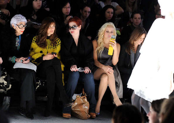 Iris Apfel - Joanna Mastroianni - Front Row - Fall 2012 Mercedes-Benz Fashion Week