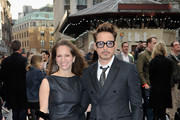 Susan Downey and Robert Downey Jr attend a special screening of 'Iron Man 3' at Odeon Leicester Square on April 18, 2013 in London, England.