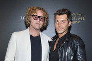 Peter Dundas (L) and Evangelo Bousis attend the Irving Penn Exhibition Private Viewing Hosted by Vogue as part of the Paris Fashion Week Womenswear Spring/Summer 2018 on October 1, 2017 in Paris, France.