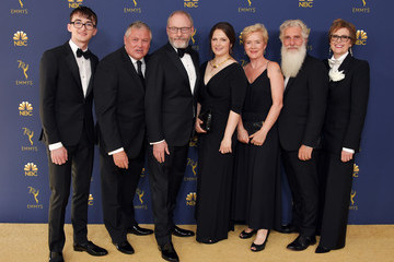 Isaac Hempstead Wright Conleth Hill 70th Emmy Awards - Arrivals