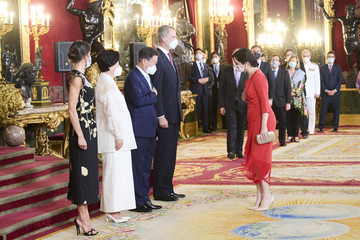 Isabel Diaz Ayuso Spanish Royals Host A Dinner For President Of South Corea