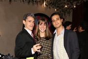 (L-R) Ruben Toledo, Eloise Vadukul and Alex Vadukul attend the dinner following the Isabel And Ruben Toledo PA At Lane Bryant Flagship Store on September 30, 2015 in New York City.