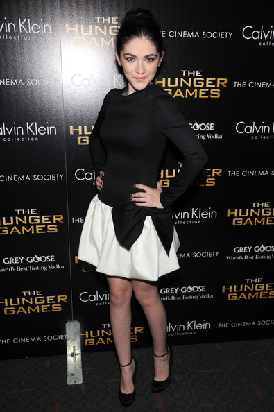 "Isabelle Fuhrman Actress Isabelle Fuhrman attends the Cinema Society & Calvin Klein Collection screening of ""The Hunger Games"" at SVA Theatre on March 20, 2012 in New York City."