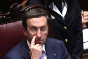 Italian Lower house speaker Gianfranco Fini attends a debate for the confidence vote to the Berlusconi's government at the Lower house on December 13, 2010 in Rome, Italy. Italian Prime Minister Silvio Berlusconi is facing a vote of no confidence from both the Senate and the Lower House.