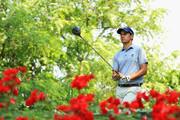 Matteo Manassero of Italy prepares to tee off on the 16th hole during day two of the Italian Open at Gardagolf CC on June 1, 2018 in Brescia, Italy.