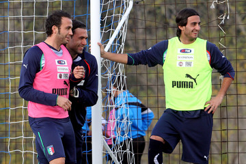 Photo of Salvatore Sirigu & his friend football player  Giampaolo Pazzini - teammate
