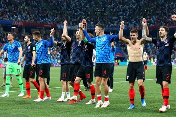 Ivan Perisic Marcelo Brozovic Croatia vs. Denmark: Round Of 16 - 2018 FIFA World Cup Russia