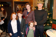 Camilla Rutherford, Rufus Abbott and their children attend the brunch launch of The Ivy Market Grill in partnership with the Kids Company at The Ivy Market Grill on November 23, 2014 in London, England.