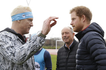Iwan Thomas The Duke & Duchess of Cambridge and Prince Harry Join Team Heads Together at a London Marathon Training Day