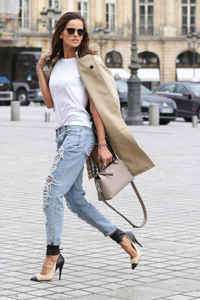 Izabel Goulart Spotted in Paris