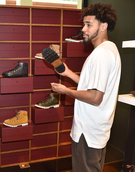 9ae69a77b07 J. Cole Photos Photos - J. Cole Appears for Bally Cocktail in ...
