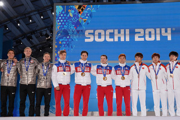 J.R. Celski Medal Ceremony - Winter Olympics Day 15