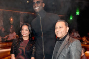 NBA superstar Kevin Garnett (L) mingled during the JBL Platinum Party alongside Dinesh Paliwal (R) during the 2nd annual JBL Fest, an exclusive, three-day music experience hosted by JBL. The party was held at Omnia, inside Caesars Palace on October 17, 2018 in Las Vegas, NV.