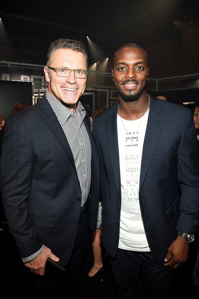 Howie long photos photos jcpenney and michael strahan launch
