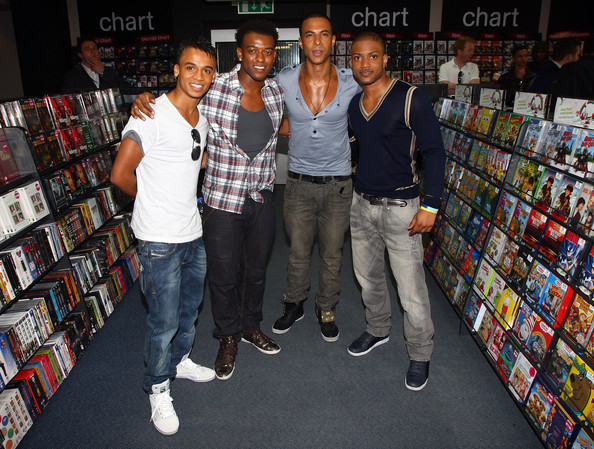"(L-R) Aston Merrygold, Oritse Williams, Marvin Humes and Jonathan ""JB"". JLS"