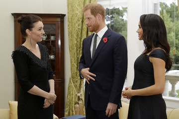 Jacinda Ardern The Duke And Duchess Of Sussex Visit New Zealand - Day 1