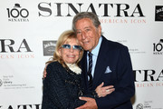 "Nancy Sinatra and Tony Bennett attend Jack Daniel's Sinatra Select celebration of the Grammy Museum's ""Sinatra: An American Icon"" at The New York Public Library of Performing Arts on March 3, 2015 in New York City."