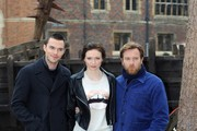 (L-R) Actors Nicholas Hoult, Eleanor Tomlinson and Ewan McGregor attend a photocall for 'Jack The Giant Slayer' at Hampton Court Palace on February 12, 2013 in London, England.