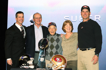 Jack Harbaugh Super Bowl XLVII Coaches Press Conference