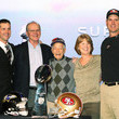 Jackie Harbaugh Super Bowl XLVII Coaches Press Conference