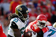 Chris Ivory #33 of the Jacksonville Jaguars carries the ball during the game against the Kansas City Chiefs at Arrowhead Stadium on November 6, 2016 in Kansas City, Missouri.