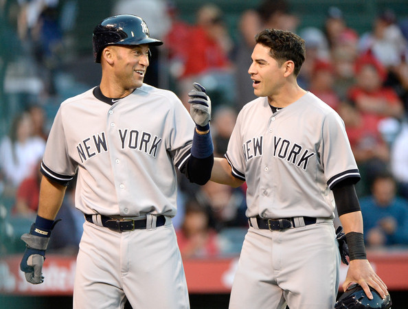 Photo of Derek Jeter & his friend baseball player  Jacoby Ellsbury - New York Yankees