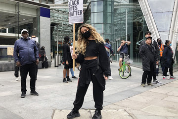 Jade Thirlwall Black Lives Matter Demonstrations In UK Continue Into The Weekend